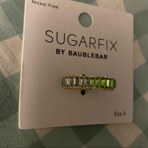 Sugar fix baublebar ring new 8 blue green -gold 💎